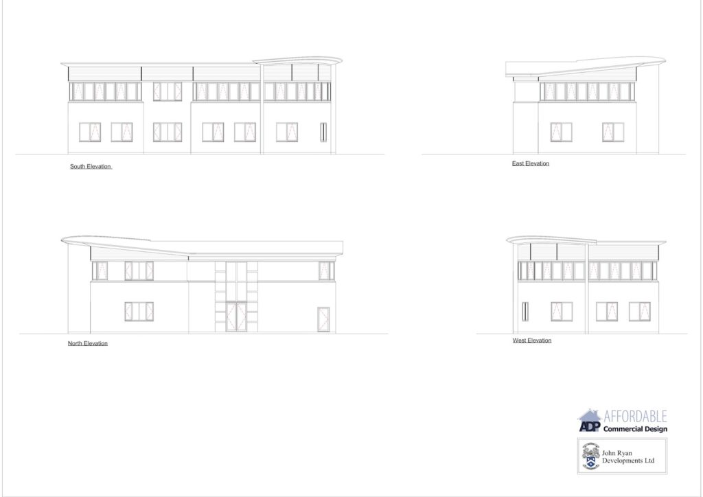 John Ryan Developments Cross Sections Commercial Build Lowes Lane