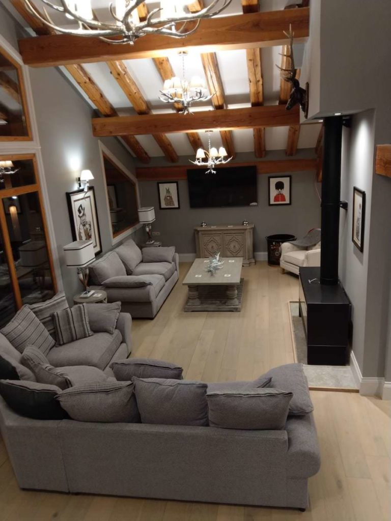 John Ryan Developments Residential Living Room Beams Design