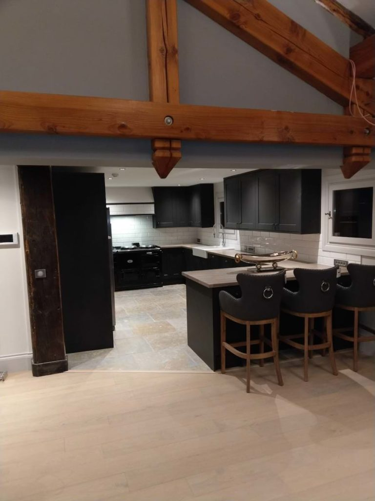 John Ryan Developments Living Room and Kitchen New Build