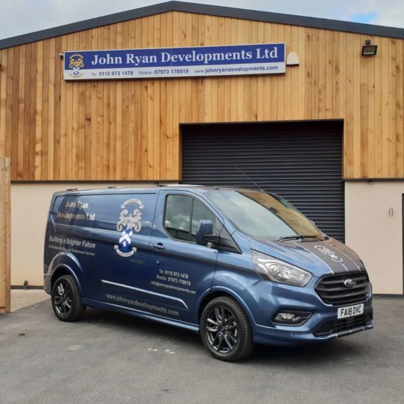 John Ryan Developments Office Van